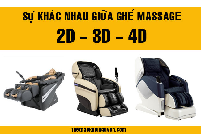 Ghế massage 2D, 3D và 4D khác nhau như thế nào