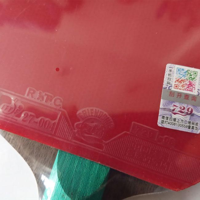 Mặt vợt bóng bàn 729 Very 9 sao đỏ
