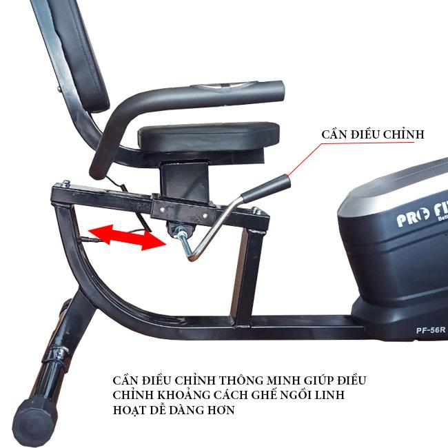 Điều chỉnh ghế ngồi xe đạp tập PF-56R